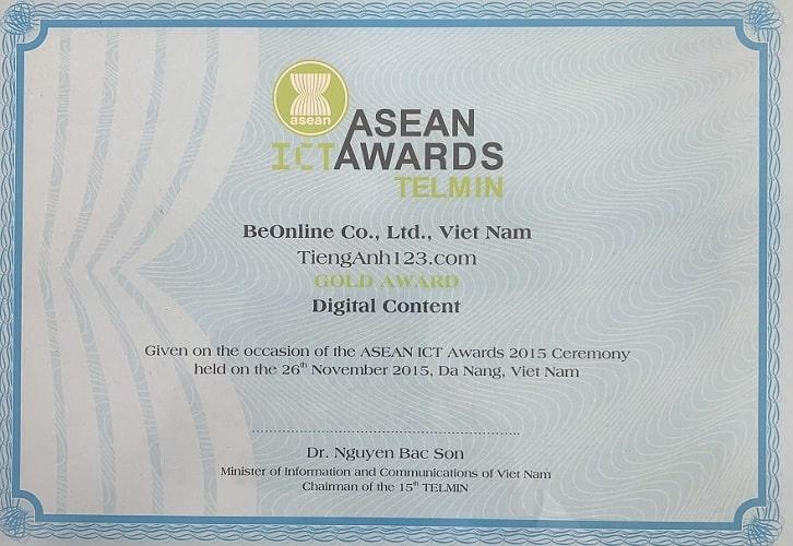 Giải Nhất ASEAN về nội dung bài giảng số